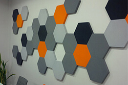 Akustik altıgen duvar paneli
