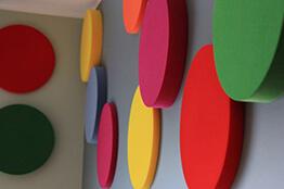 Akustik daire duvar paneli